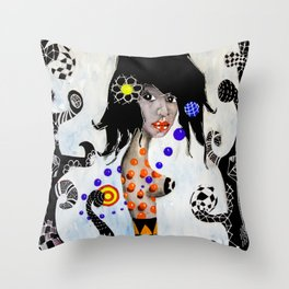 Madalena - La Flaca Throw Pillow
