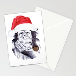 Christmas Chimp Stationery Cards