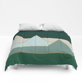 Green Mountains #society6 #decor #buyart Comforters