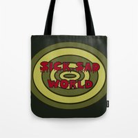 daria Tote Bags featuring Sick Sad World Daria Documentary by Illustrations by Krishna Tabanera