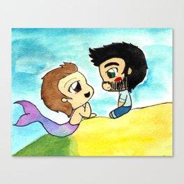 Sterek Mermaid Au Canvas Print