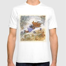 Flying Mens Fitted Tee MEDIUM White