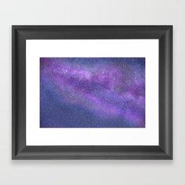 Deep Purple Milky Way Stars Framed Art Print