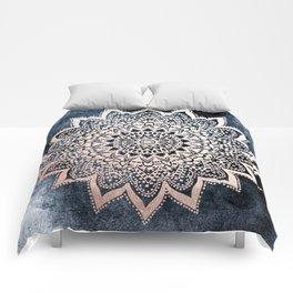 BLUE BOHO NIGHTS MANDALA Comforters