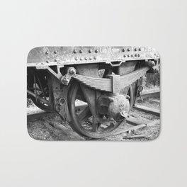 Old train wheel Bath Mat