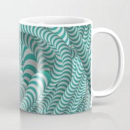 Mint green stripe illusion design Coffee Mug