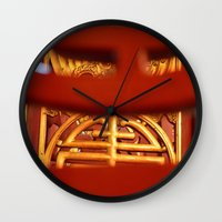 literature Wall Clocks featuring Temple of Literature by DrCaroline