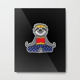 Wonder Sloth Metal Print
