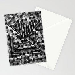 grey knit Stationery Cards