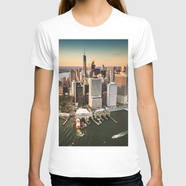 aerial view of manhattan T-shirt