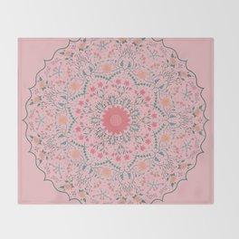 Flower Rounds Mandala Throw Blanket