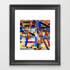Brandon (stripes 1) Framed Art Print