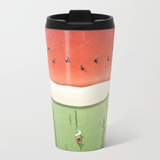 Fleshy Fruit (Watermelon) Metal Travel Mug
