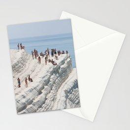 Rocky cliff Scala dei Turchi, Sicily, Italy Stationery Cards