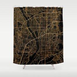Kyoto map, Japan Shower Curtain