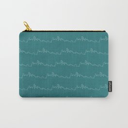 Seattle Skyline // Teal Carry-All Pouch