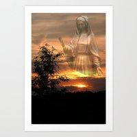madonna Art Prints featuring Madonna by Elke Balzen