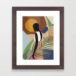 Tropical Girl 2 Framed Art Print