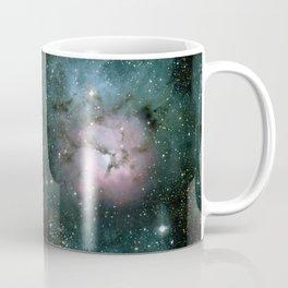 Green and Pink Burst Galaxy Coffee Mug