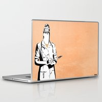 cigarette Laptop & iPad Skins featuring Cigarette Nurse by Ben Talatzko