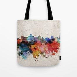 Groningen Abstract Skyline Tote Bag