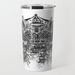 Carousel Drawing | Merry Go Round Art Print Travel Mug