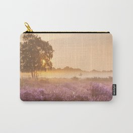 I - Fog over blooming heather near Hilversum, The Netherlands at sunrise Carry-All Pouch
