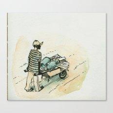 Wheelbarrow man - Cap Haitian Canvas Print