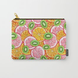 Summer pattern Orange grapefruit and kiwi fruit Carry-All Pouch
