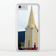 Small Yellow Church Clear iPhone Case