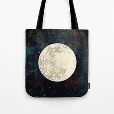 The Flower of Life Moon 2 Tote Bag