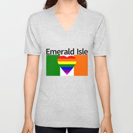 Ireland Gay Wedding Unisex V-Neck