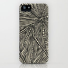 Black and Ivory Triangles iPhone Case