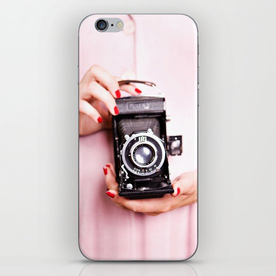 Vintage camera love iPhone Skin