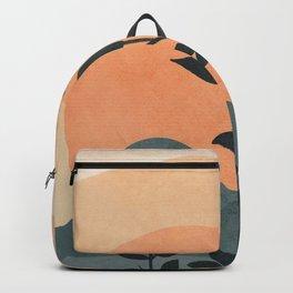 Orange Rising Sun Backpack