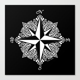 Cindy's Tribal Compass Rose Canvas Print