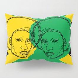 Jamaican Flag Portrait Pillow Sham