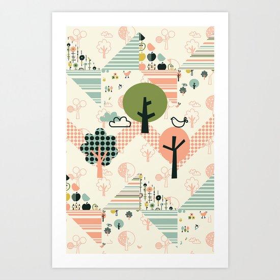 Apple Orchard Zig Zag Art Print