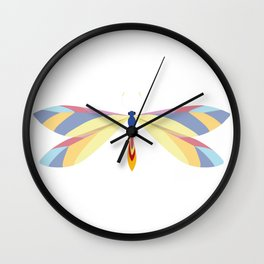 Colorful Dragonfly Wall Clock