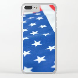 American Flag 2 Clear iPhone Case