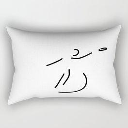 discus athletics wide throw Rectangular Pillow