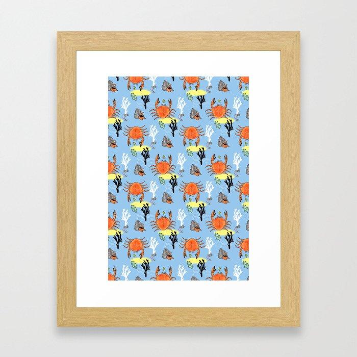Oh Crab! Framed Art Print