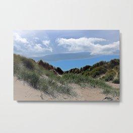 Among the dunes at Bamburgh Metal Print