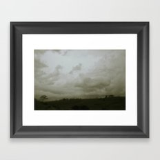 Dawn in the countryside Framed Art Print