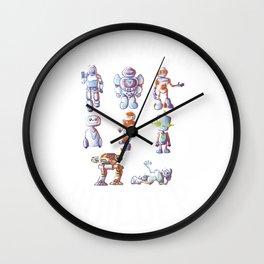 Future Robot Builder, Robot, Robot Art, Robot Party, Robotics, Robot Baby, Robot T Shirt, Sci Fi Wall Clock