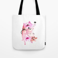 Three and Free Little Pigs Tote Bag