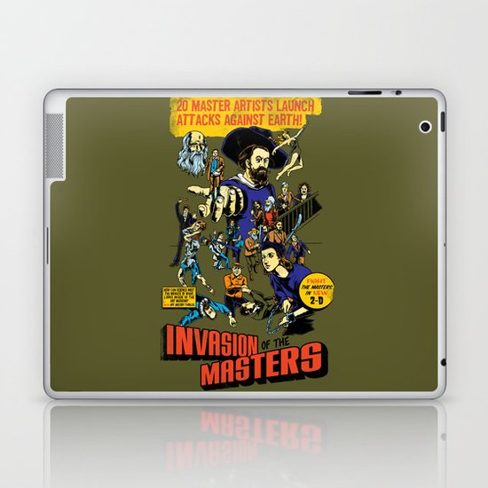 Invasion of the Masters! Laptop & iPad Skin