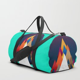 066 - Owly climbing the coloured holy mountain Duffle Bag