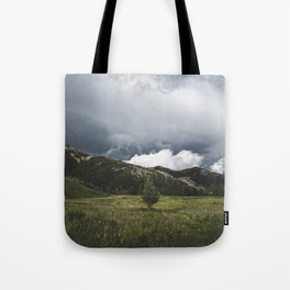 Landsape Waterton Meadow and Rolling Hills | Nature | Skyscape Clouds Tote Bag