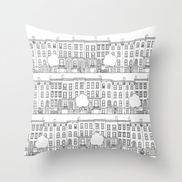 blocks of Brooklyn Throw Pillow